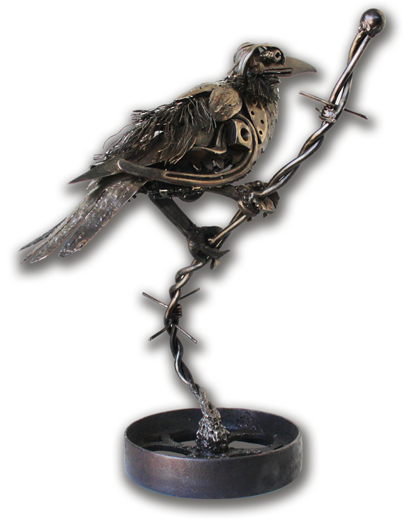 Mike Desrochers Artist Blacksmith Raven