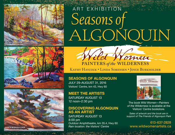 Wild Women Artists, Seasons of Algonquin, Painting Exhibition, Algonquin Park